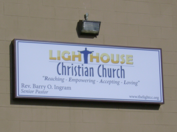 Lighthouse Church Storefront Sign