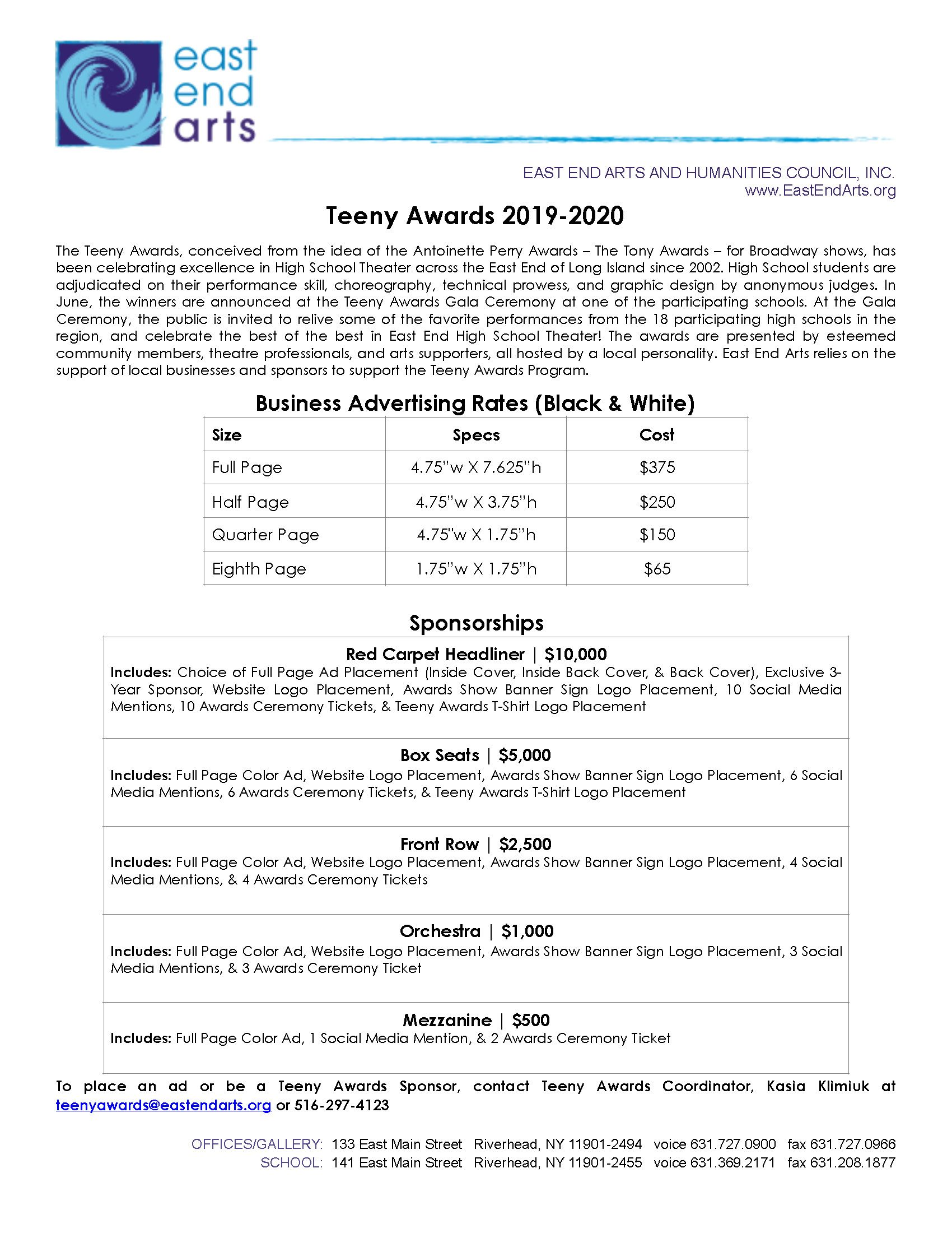 Click here to download a printable version of the sponsorship opportunities information and form>>>>