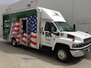 Franchise box truck wraps Orange County