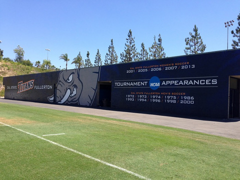 Stadium vinyl wall wraps Orange County