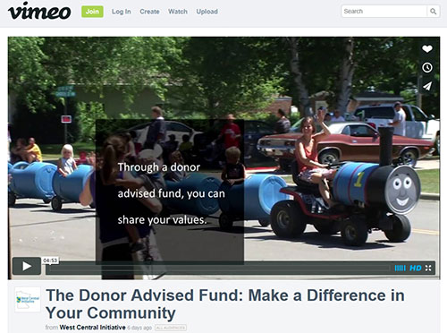 VIDEO: The Donor Advised Fund: Make a Difference in Your Community