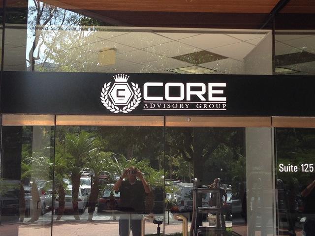 Exterior logo signs for Orange County