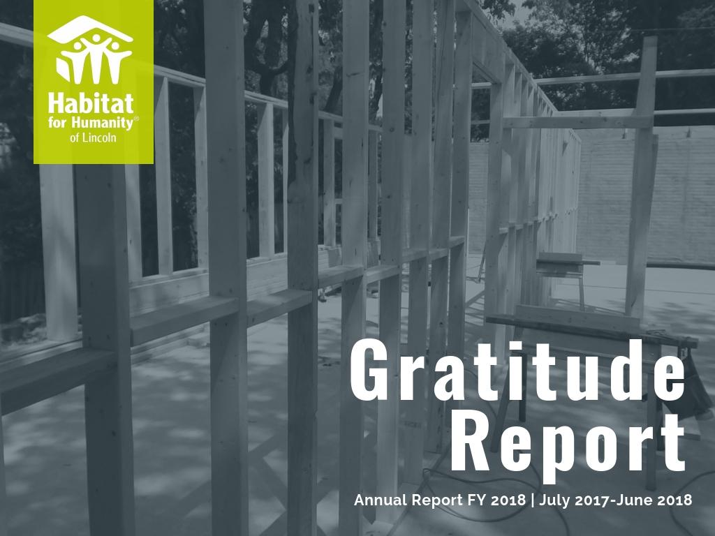 Gratitude Report