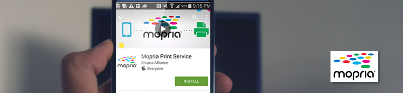 Close-up of Mopria App on Cell Phone