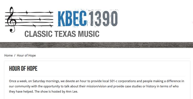 KBEC Radio's Hour of Hope Hosts DPR