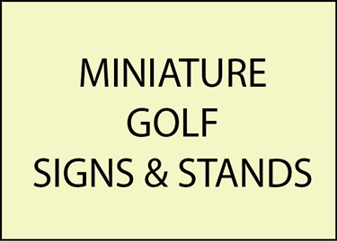9. - E14850 - Miniature Golf Signs