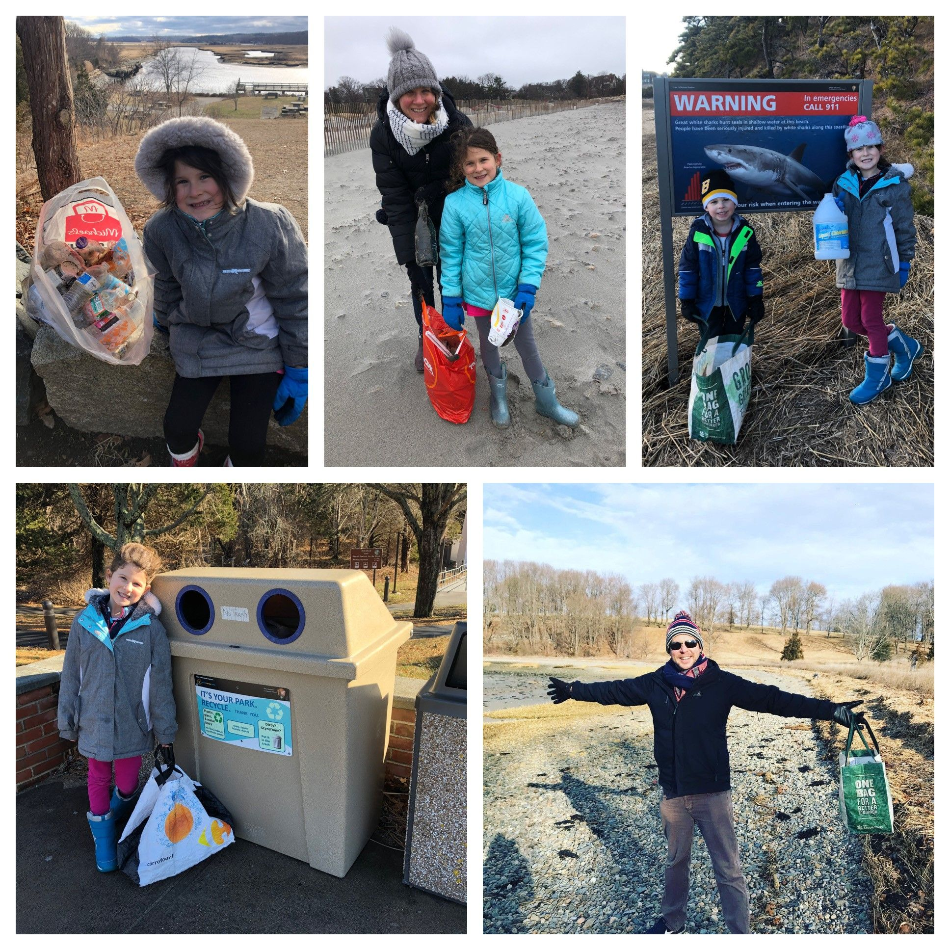 Cohasset Family's Quest to Collect 2020 Bags of Litter in 2020