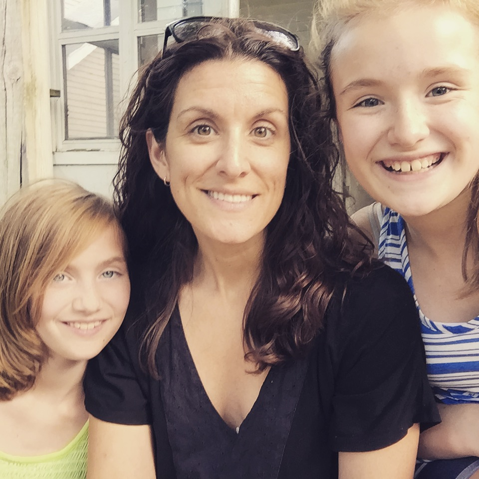Sarah and her two young daughters