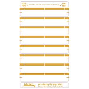 59441 - Tan Color Bar Name Labels