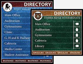 School Directory Boards