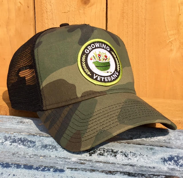 Growing Veterans Green Camo Trucker Hat