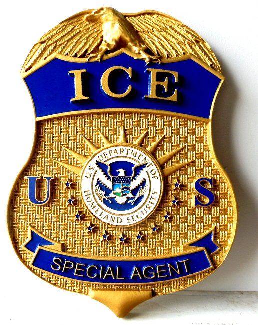 M2162 -  Wall Plaque of the Badge of Immigaration & Customs Enforcement Agent (Galleries 30 and 33, page 2)