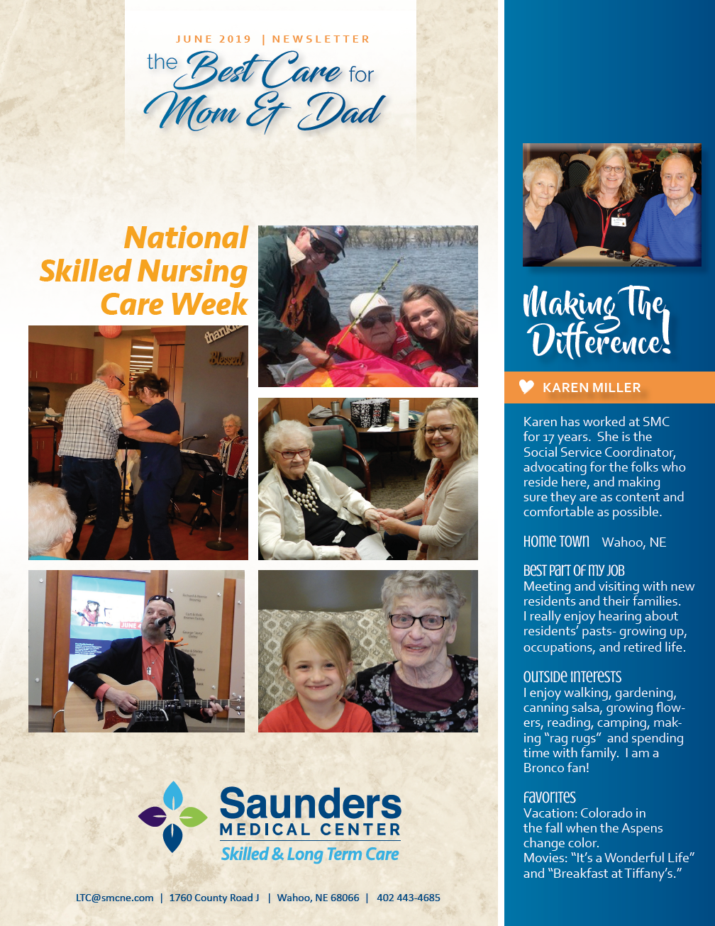 Skilled and Long Term Care Nursing Home Newsletter