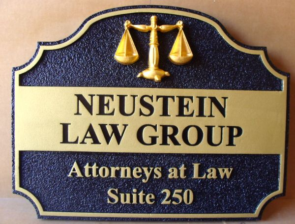 A10021 - Carved and Engraved Law Group Sign