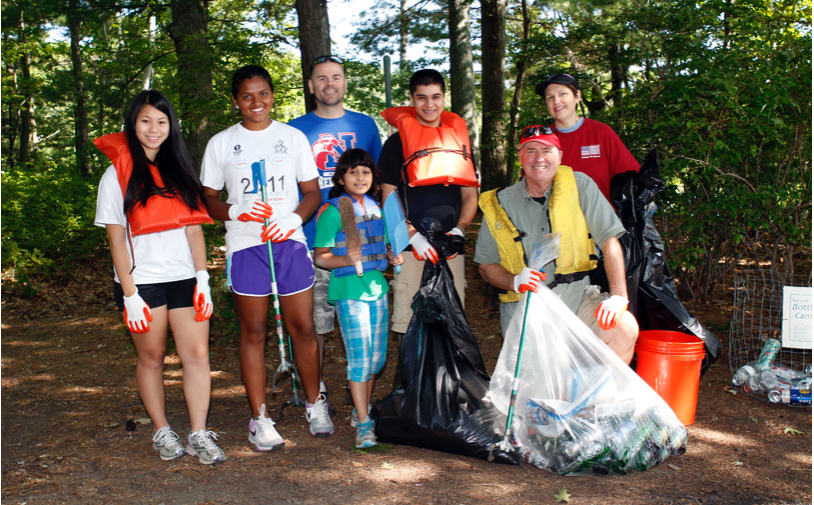 The Dug Pond Fall Clean-up (focusing on: Blueberry Island, Northern and Campus Drive shorelines)