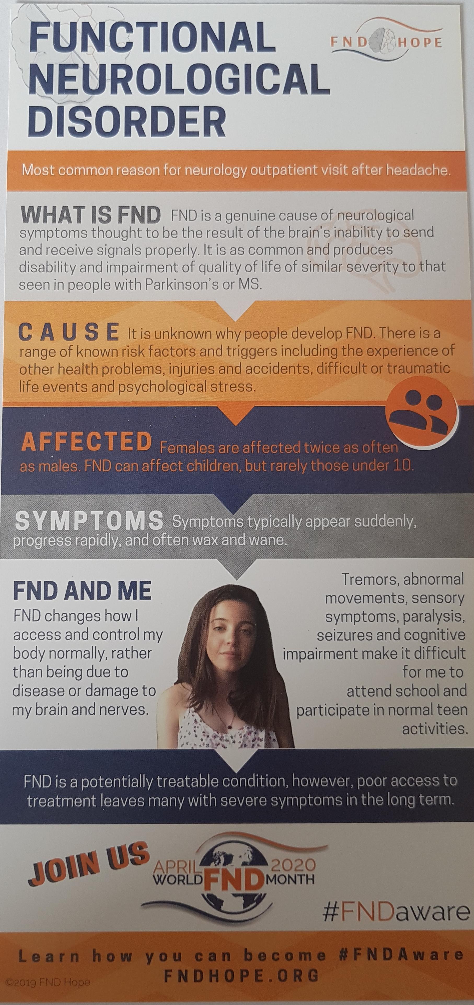 FND Hope Leaflets x 25