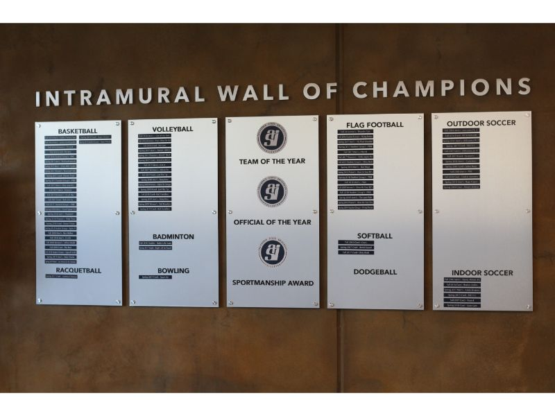 Walls of Fame made with Aluminum Panels in Fullerton CA