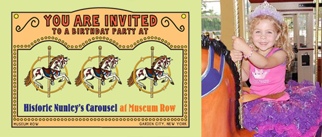 Nunley's Carousel Birthday Parties!