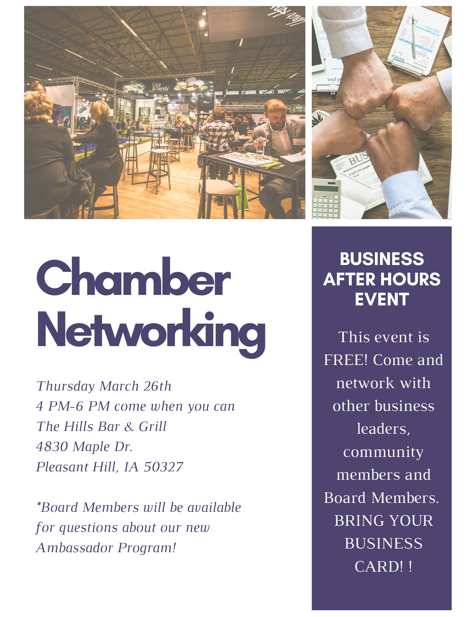Business Unplugged-Networking Event