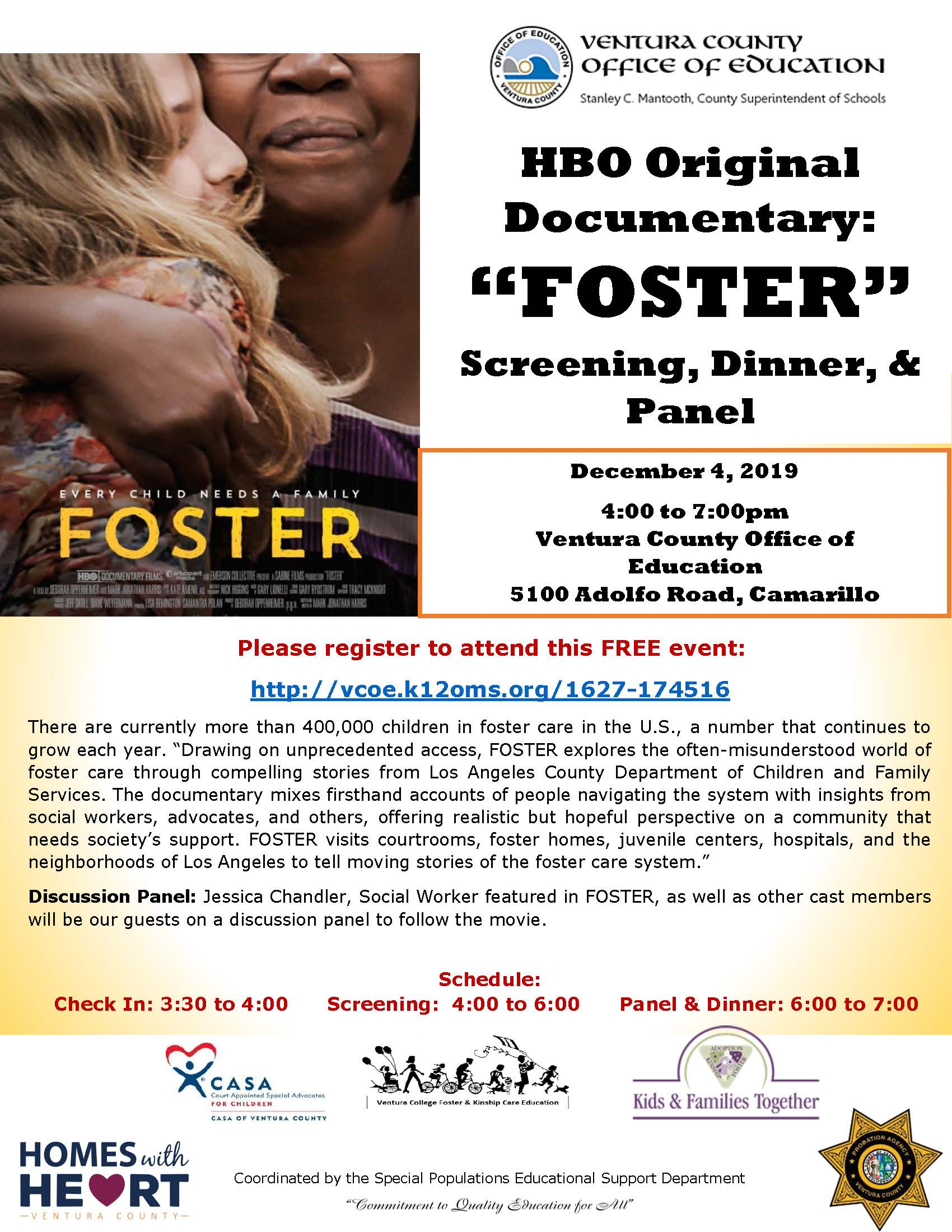 Foster: HBO Documentary Screening, Dinner, and Panel