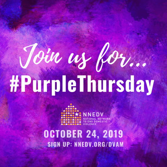 Domestic Violence Awareness Month: Purple Thursday