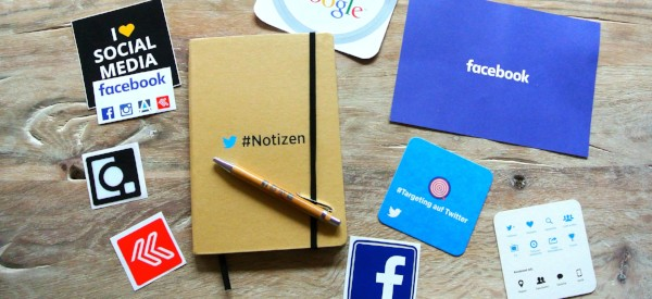 Social media branded stickers and journals