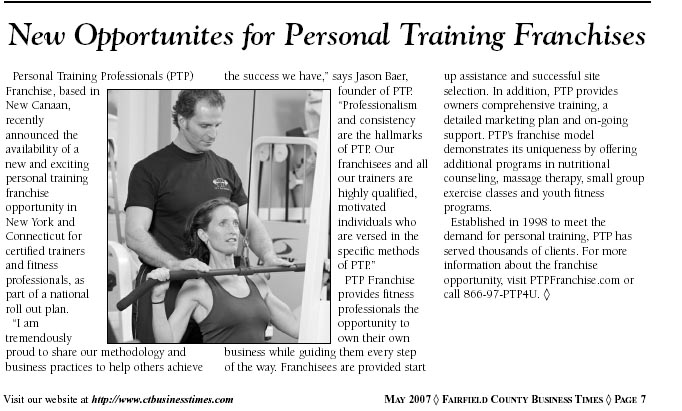 Fairfield County Business Times | May 2007