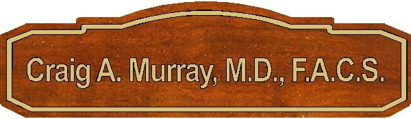 B11105 - Carved Wood Physician's Name Plaque