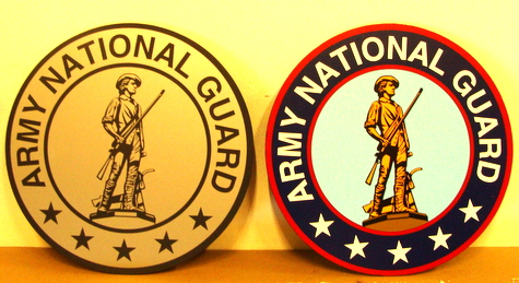 V31748 - US Army National Guard Crest Plaques