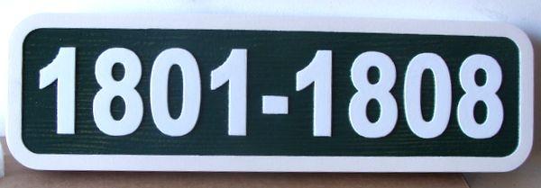 KA20908 - Carved HDU Apartment Number Building  Sign