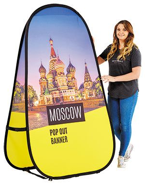 Moscow Fabric Pop Out Banner