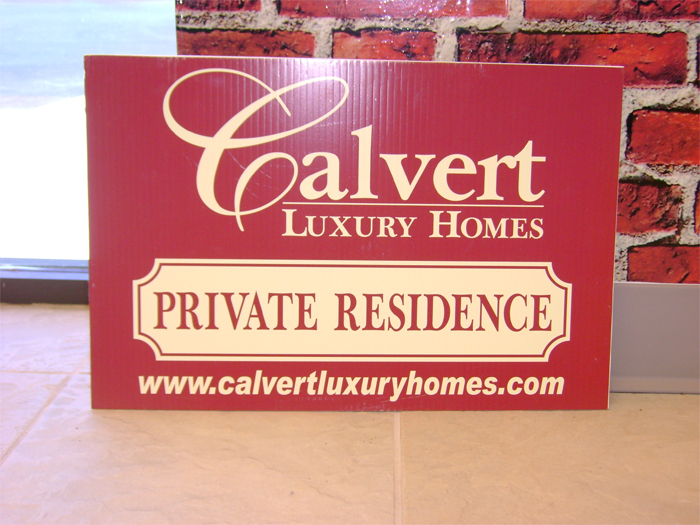 Calvert Homes Yard Sign