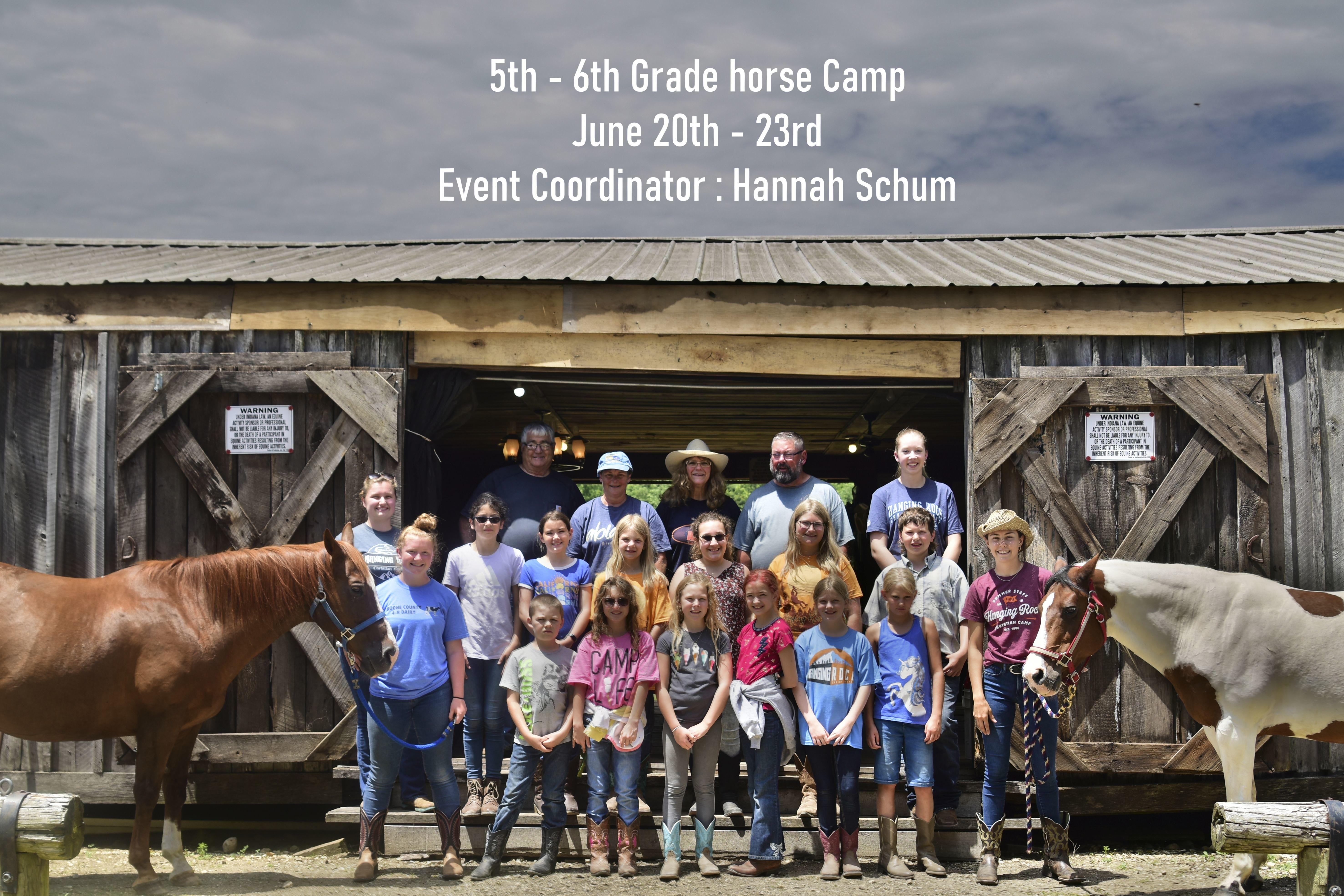5th & 6th Grade Horse Camp