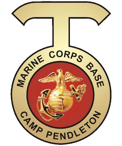 V31442 - USMC Camp Pendleton Carved 3D Insignia for Wall Plaque