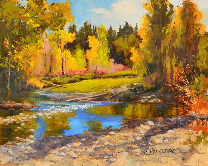 Fall on Rock Creek painting by Connie Herberg