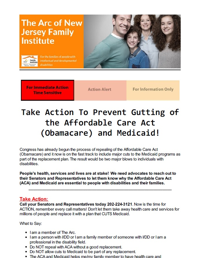 Take Action To Prevent Gutting of the Affordable Care Act (Obamacare) and Medicaid! 3.03.2017