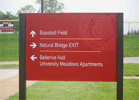 UMSL Wayfinding Sign
