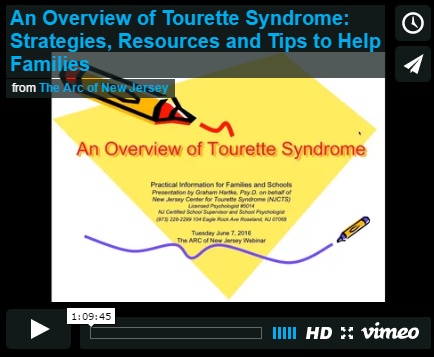 An Overview of Tourette Syndrome: Strategies, Resources and Tips to Help Families