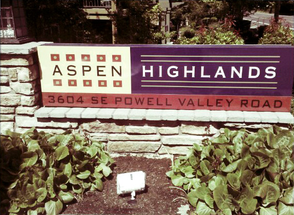 Aspen HIghlands Monument Sign