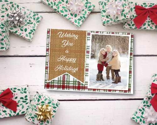 Plaid & Burlap Happy Holidays!