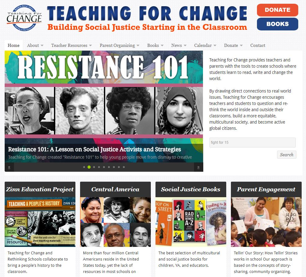 Teaching for Change: Building Social Justice Starting in the Classroom
