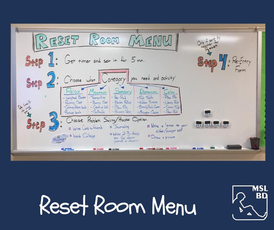 Reset Room Menu
