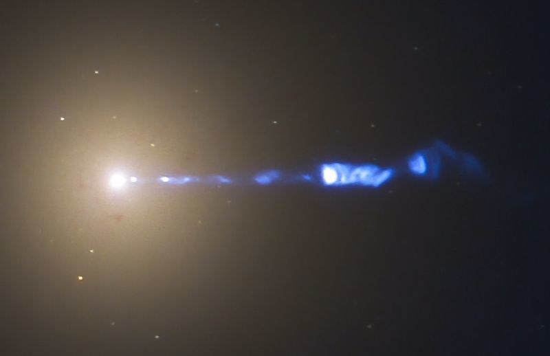 A Supermassive Black Hole's Enormous Jet
