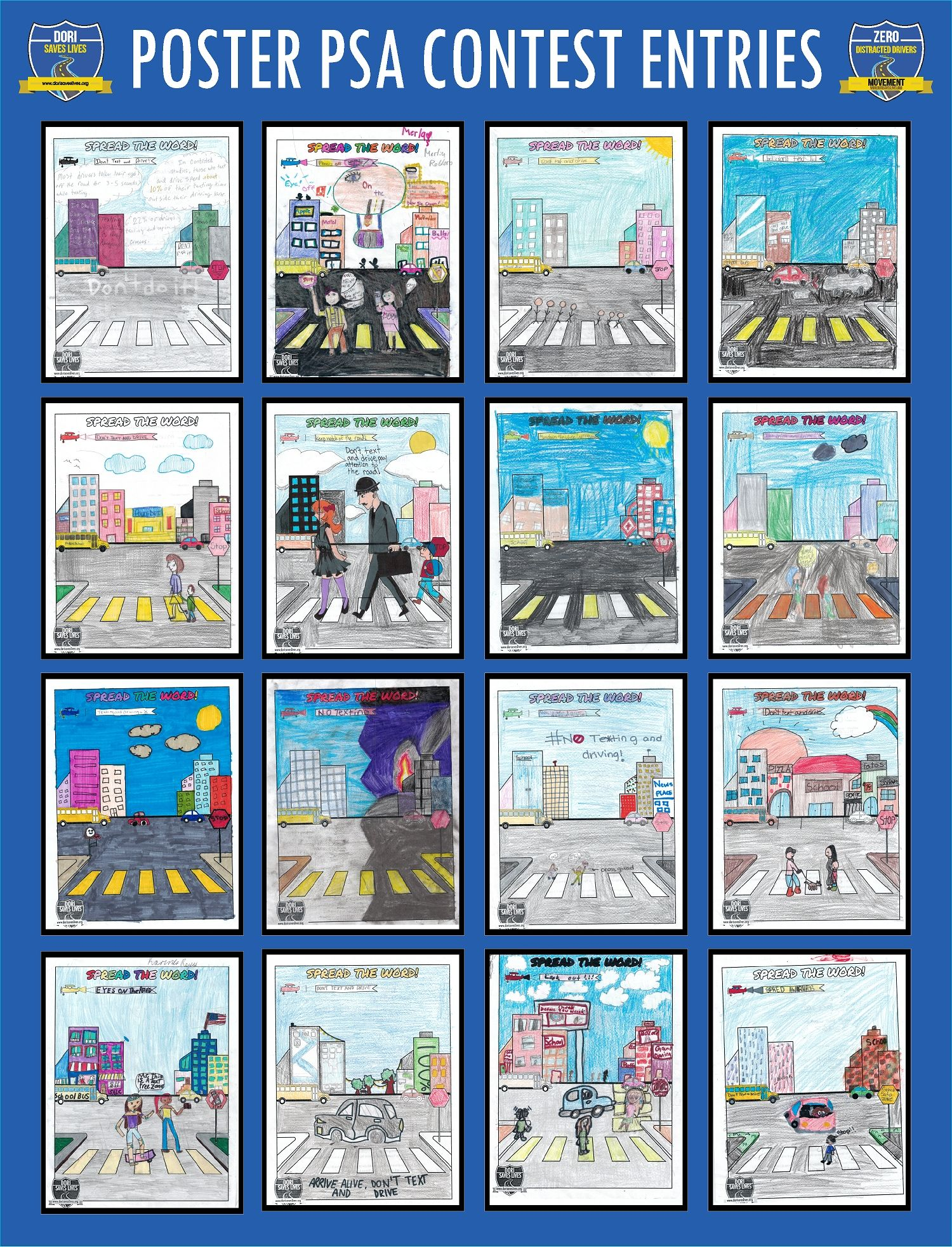 Poster PSA Entries 33-48