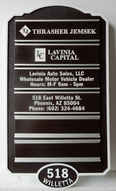 C12015 - Business Directory Sign with Changeable Business Name Plaques