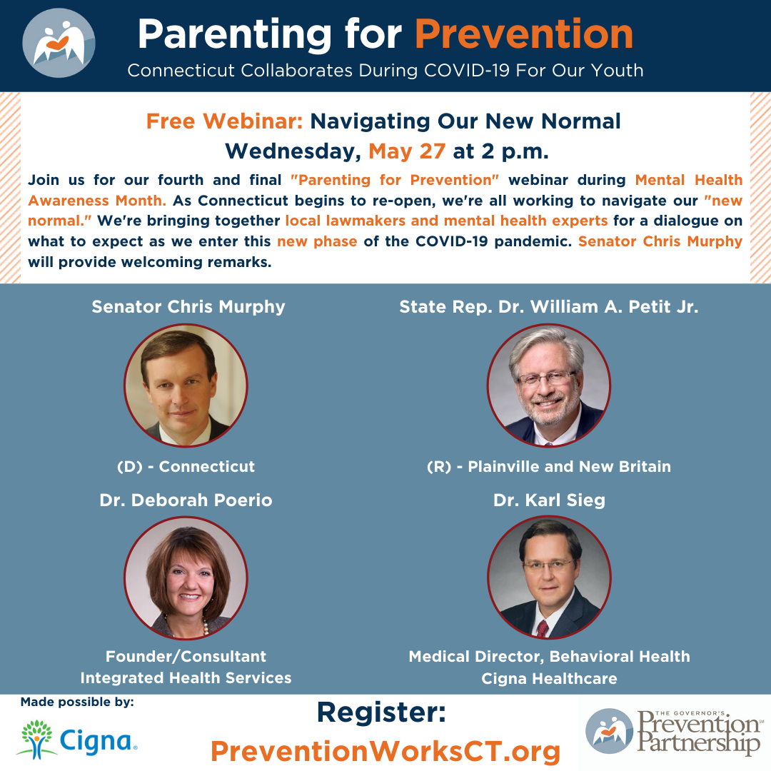 (Navigating Our New Normal) Parenting for Prevention: Connecticut Collaborates During COVID-19 For Our Youth