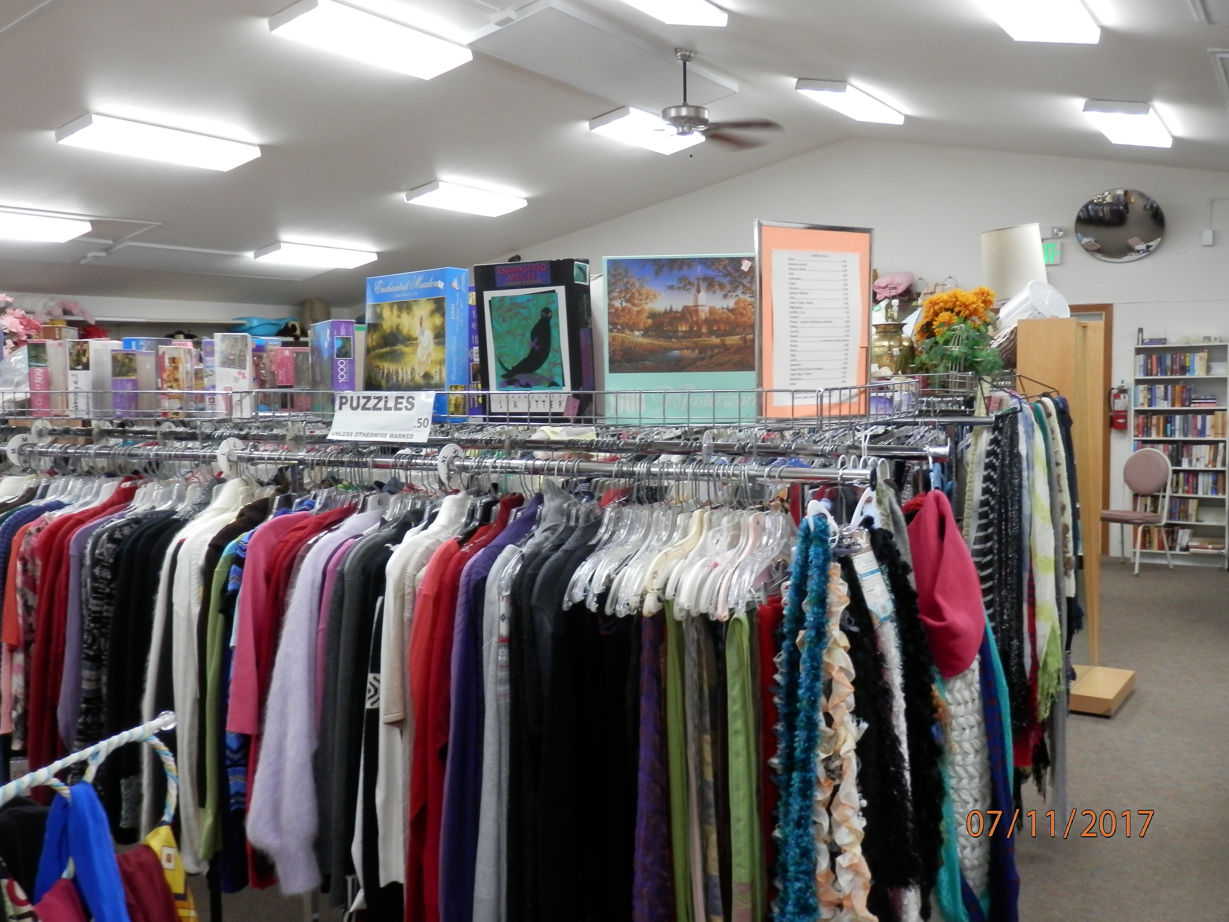 Thrift store open to the public