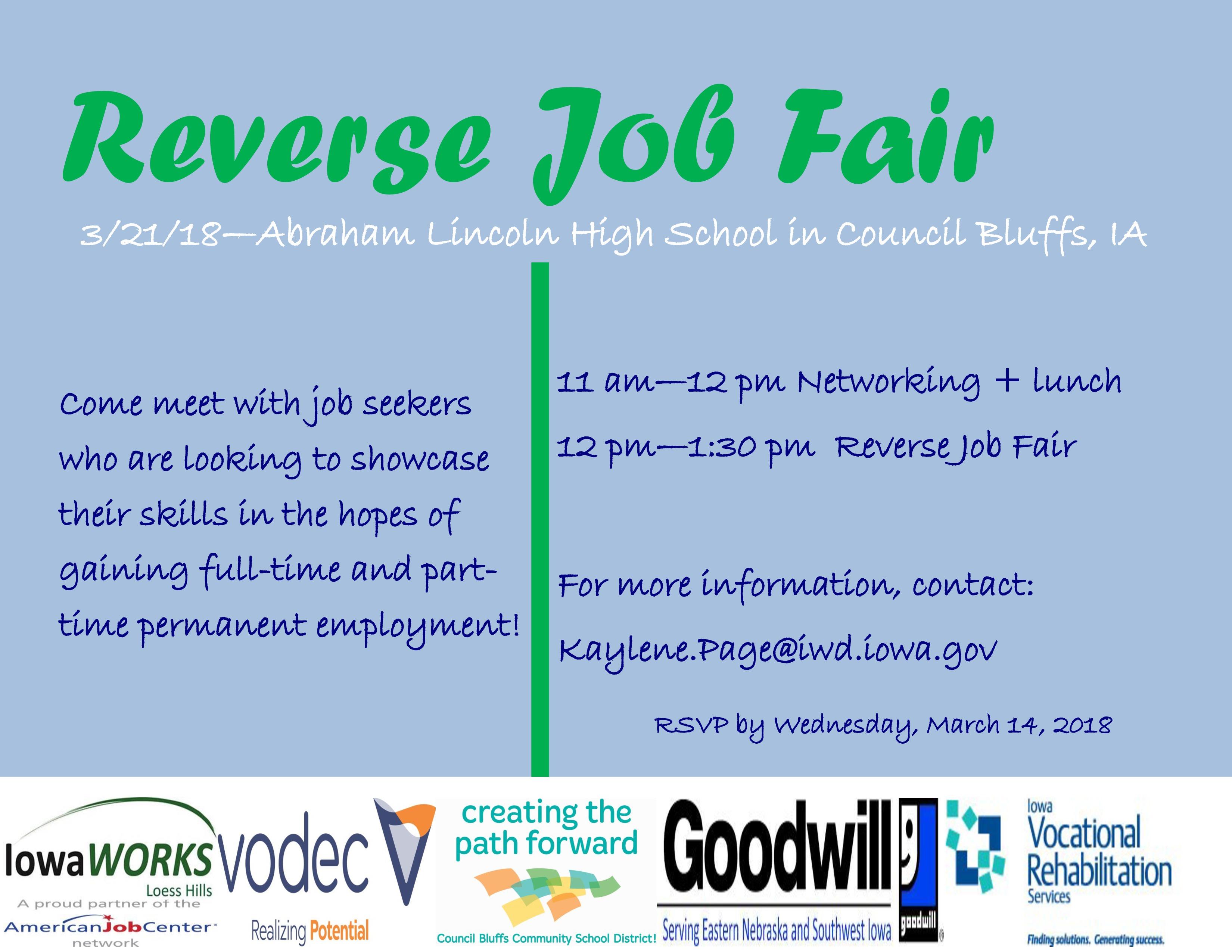 Reverse Job Fair - Council Bluffs