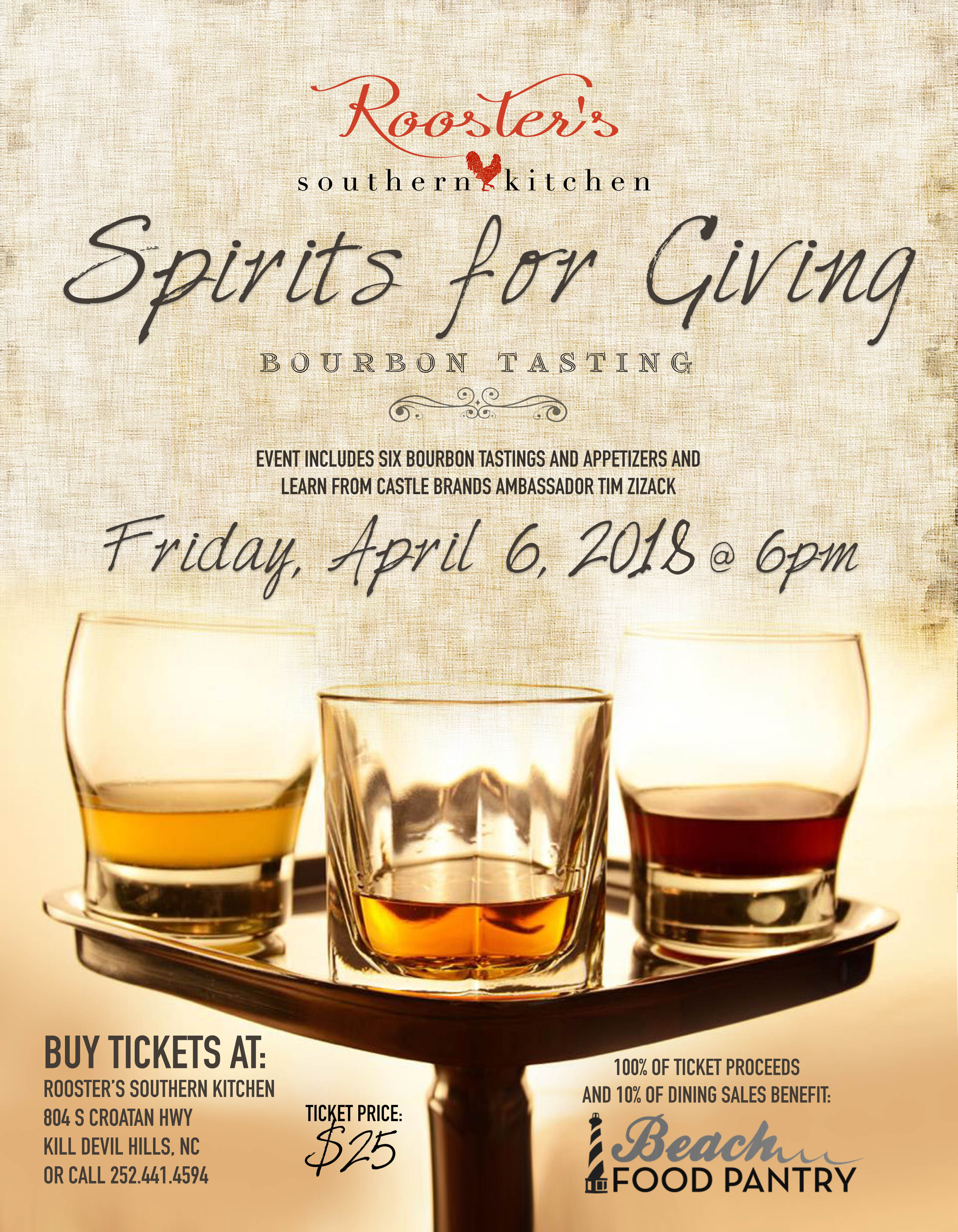 Rooster's Southern Kitchen Spirits for Giving Bourbon Tasting