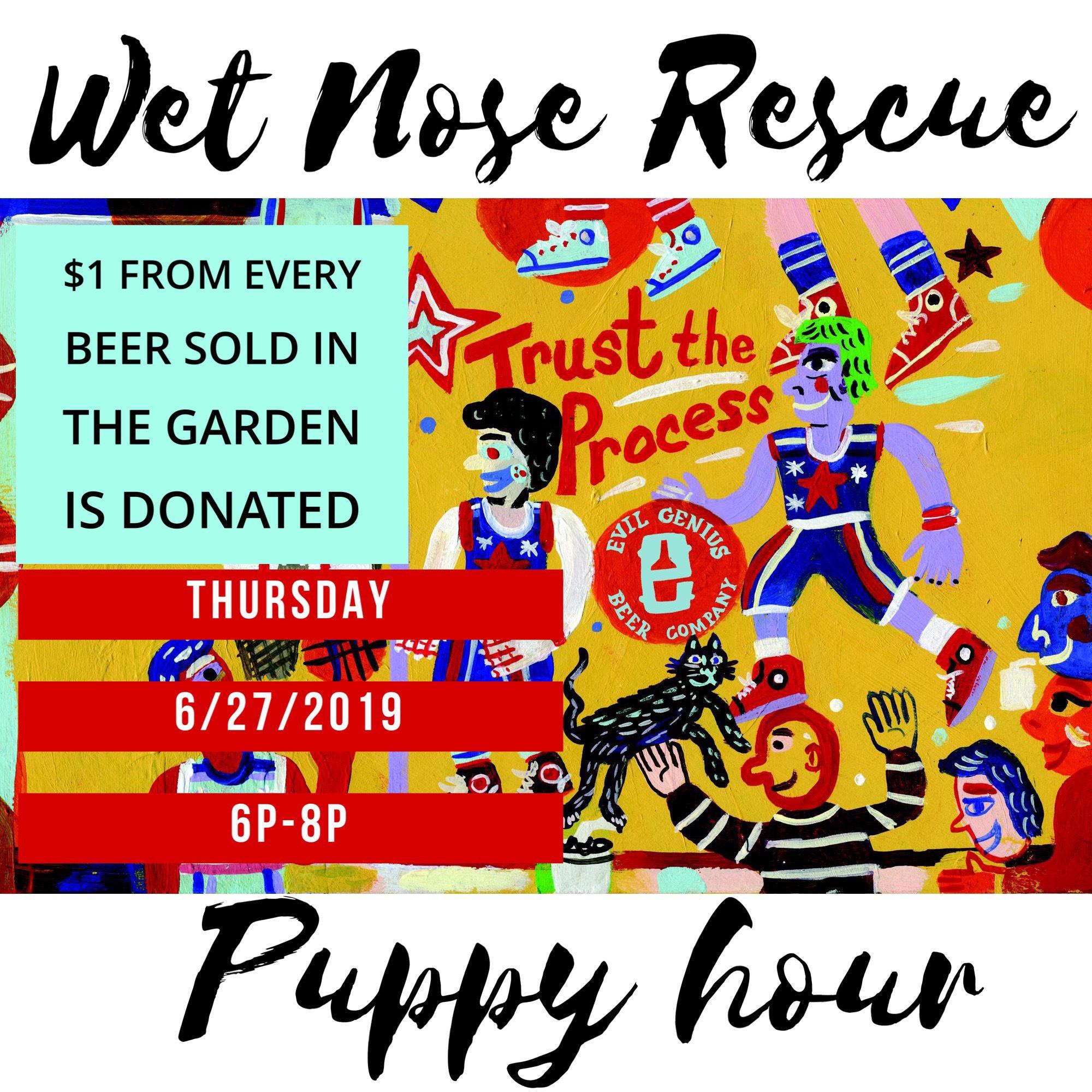 Puppy Hour @ Evil Genius Beer Company